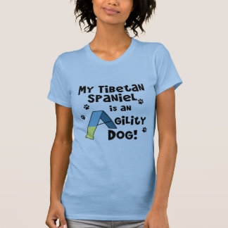 Tibetan Spaniel Agility Dog Ladies T-Shirt