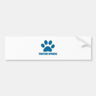 TIBETAN SPANIEL DOG DESIGNS BUMPER STICKER