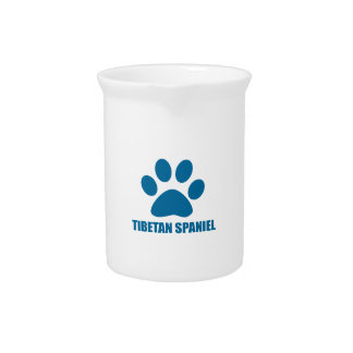 TIBETAN SPANIEL DOG DESIGNS PITCHER