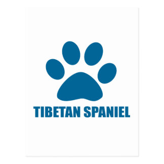 TIBETAN SPANIEL DOG DESIGNS POSTCARD