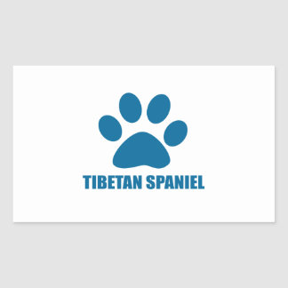 TIBETAN SPANIEL DOG DESIGNS RECTANGULAR STICKER