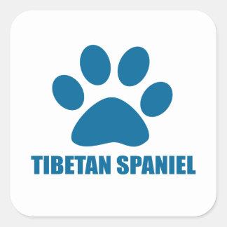 TIBETAN SPANIEL DOG DESIGNS SQUARE STICKER