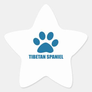 TIBETAN SPANIEL DOG DESIGNS STAR STICKER