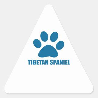 TIBETAN SPANIEL DOG DESIGNS TRIANGLE STICKER