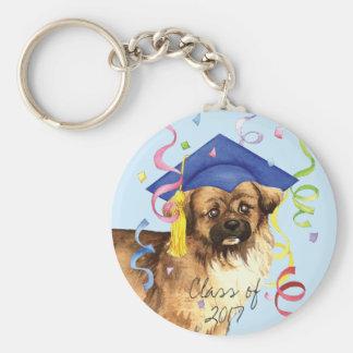 Tibetan Spaniel Graduate Key Ring