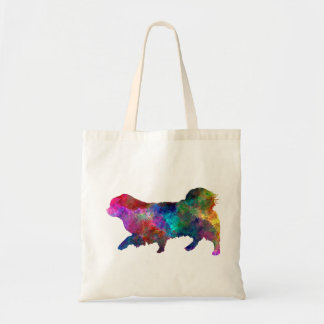 Tibetan Spaniel in watercolor Tote Bag