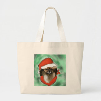 Tibetan Spaniel Large Tote Bag
