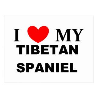 tibetan spaniel love postcard