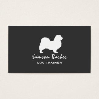 Tibetan Spaniel Silhouette Business Card