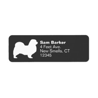 Tibetan Spaniel Silhouette Return Address Label