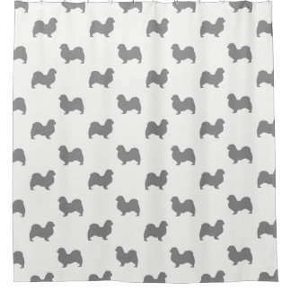 Tibetan Spaniel Silhouettes Pattern Shower Curtain