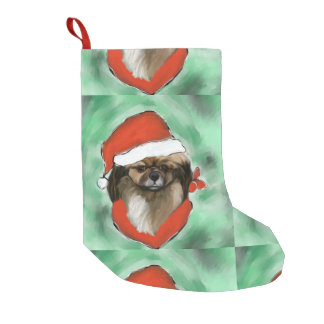 Tibetan Spaniel Small Christmas Stocking