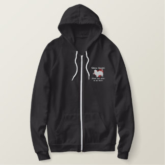 Tibetan Spaniels Leave Paw Prints Embroidered Hoodie