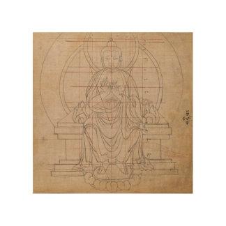 Tibetan Symmetry Wood Canvas