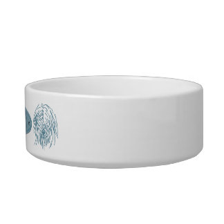 Tibetan Terrier Blue Nameplate Bowl