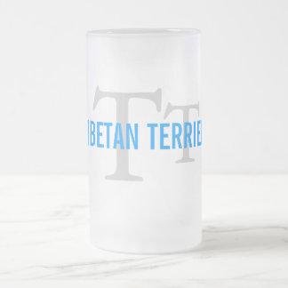 Tibetan Terrier Breed Monogram Coffee Mugs