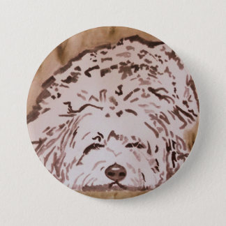 Tibetan Terrier - Contentment 7.5 Cm Round Badge