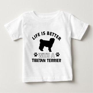 Tibetan Terrier dog breed designs Baby T-Shirt