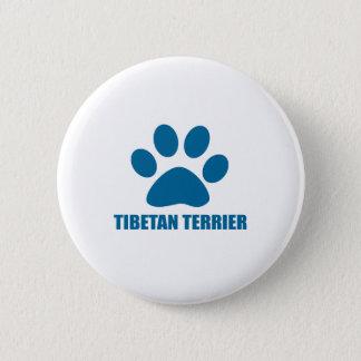 TIBETAN TERRIER DOG DESIGNS 6 CM ROUND BADGE