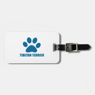 TIBETAN TERRIER DOG DESIGNS LUGGAGE TAG