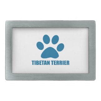 TIBETAN TERRIER DOG DESIGNS RECTANGULAR BELT BUCKLE