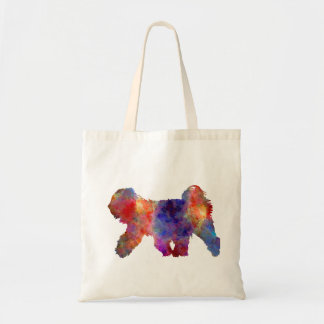 Tibetan Terrier in watercolor Tote Bag