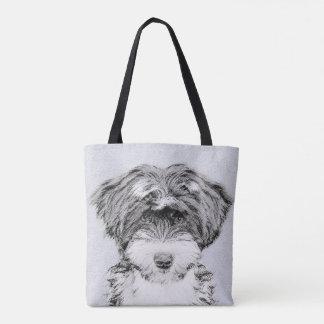 Tibetan Terrier Painting - Cute Original Dog Art Tote Bag