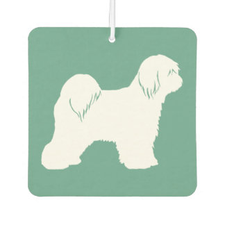 Tibetan Terrier Silhouette Car Air Freshener