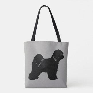 Tibetan Terrier Silhouette Tote Bag