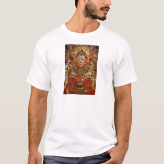 TIBETAN THANGKA ART WORK ON SILK T-Shirt