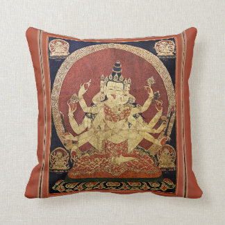 Tibetan Thangka of Guhyasamaja Akshobhyavajra Cushion