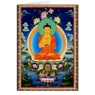 Tibetan Thangka Prabhutaratna Buddha Card