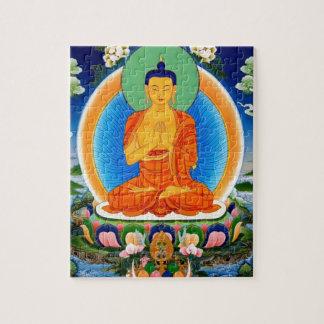 Tibetan Thangka Prabhutaratna Buddha Jigsaw Puzzle