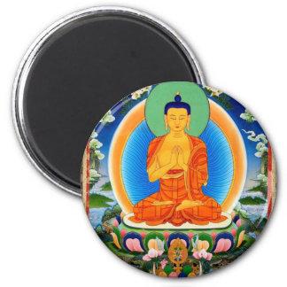 Tibetan Thangka Prabhutaratna Buddha Magnet