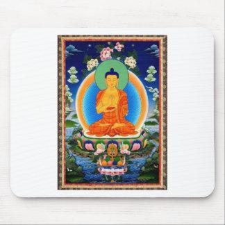 Tibetan Thangka Prabhutaratna Buddha Mouse Pad