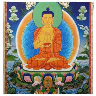 Tibetan Thangka Prabhutaratna Buddha Napkin