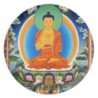 Tibetan Thangka Prabhutaratna Buddha Plate
