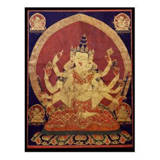 Tibetan Thanka of Guhyasamaja Akshobhyavajra Postcard