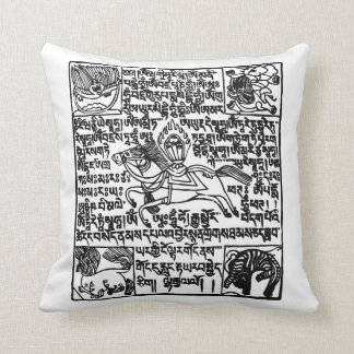 Tibetan Windhorse Prayer Flag Pillow