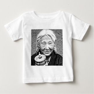 Tibetan Woman with prayer wheel Baby T-Shirt