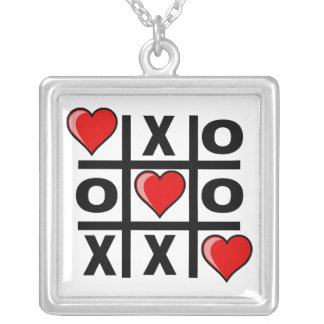 Tic Tac Love Silver Plated Necklace