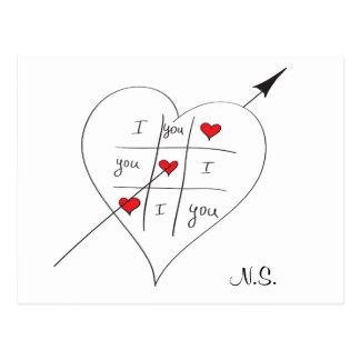 Tic Tac Love Toe Postcard