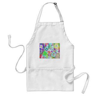 tic tac toe color adult apron