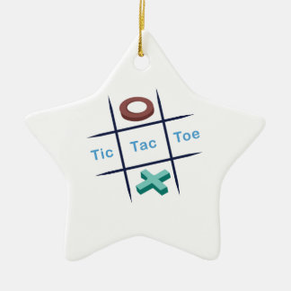 Tic Tac Toe Xox Ceramic Ornament