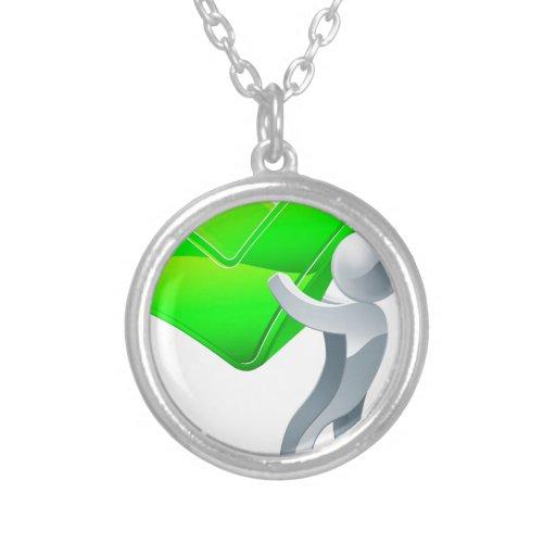 Tick mascot person personalized necklace