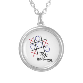 Tick Tack Toe Personalized Necklace