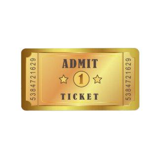 Ticket Admit One Birthday Party Birthday Bridal Label