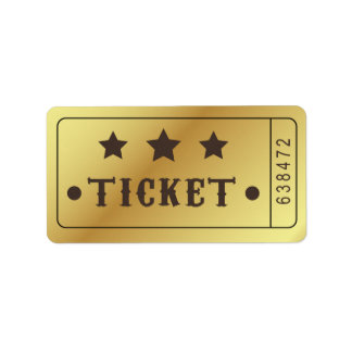 Ticket Admit One Stars Party Birthday Bridal Label