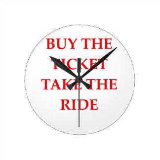 TICKET ROUND CLOCK