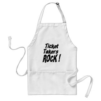 Ticket Takers Rock! Apron